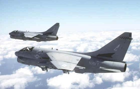 Navy a 7e Corsair ii Jet