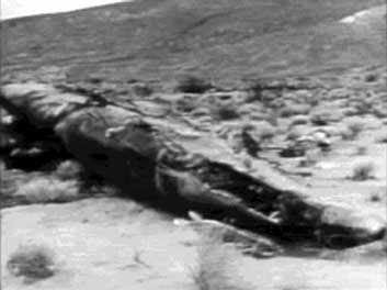 X 15 Crash The remains of X-15-3 lies on the desert floor.